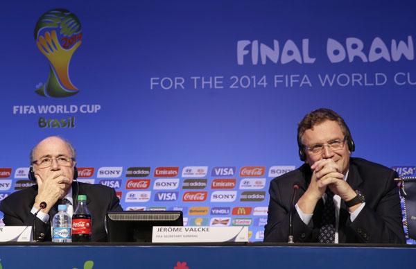 Sepp Blatter, Jerome Valcke.