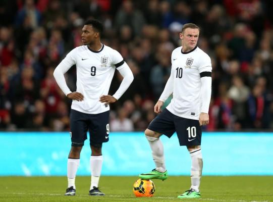 Daniel Sturridge and Wayne Rooney