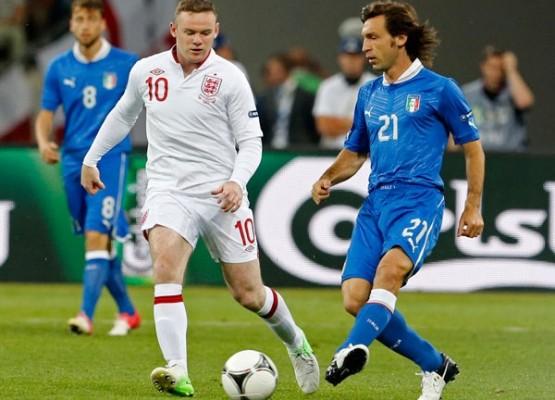 Wayne Rooney Andrea Pirlo