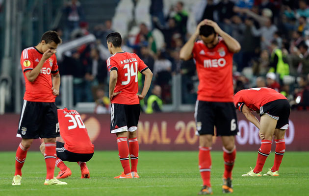 Benfica Europa League defeat