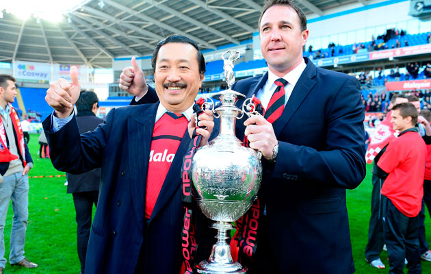 Vincent Tan and Malkey Mackay Cardiff City