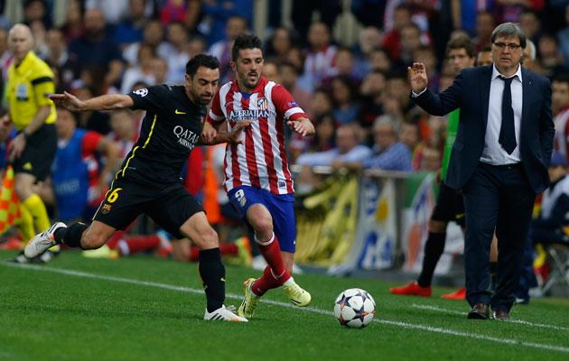 Xavi Barcelona David Villa Atletico Madrid.