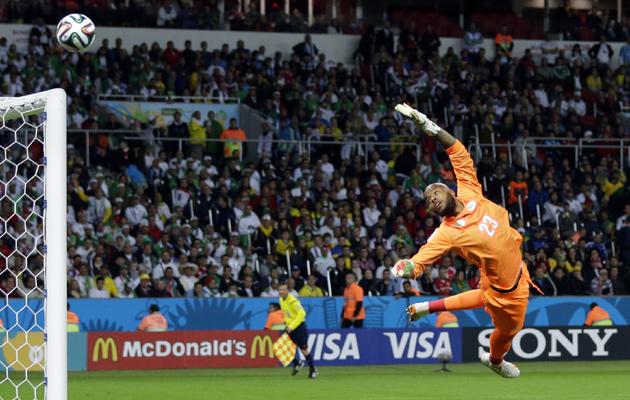 Algeria's goalkeeper Rais MÂ'Bolhi
