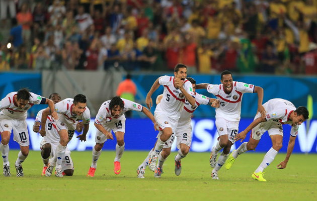 Costa Rica celebrate penalty shootout win over Greece