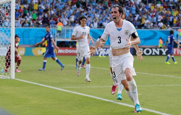 Godin scores for Uruguay