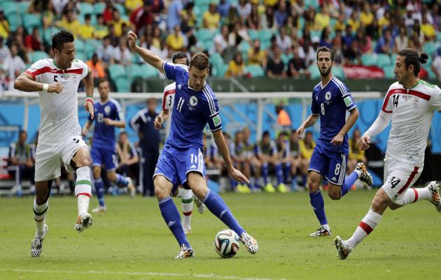 Edin Dzeko scores against Iran