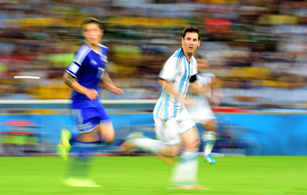Blurred lines...Lionel Messi in motion