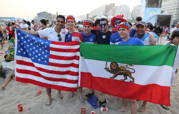 Iran fans USA fans