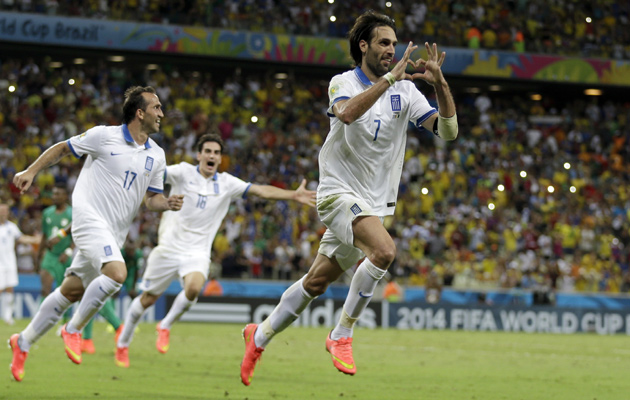 Snaras scores Greece's winner