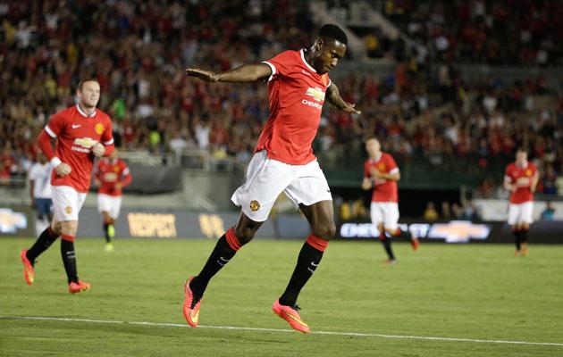 Manchester United's Danny Welbeck scores vs LA Galaxy