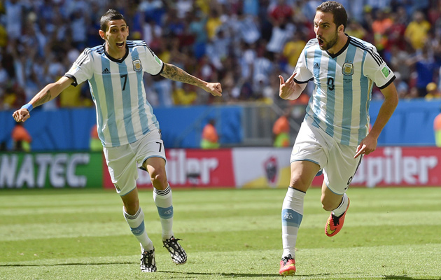 Higuain goal against Belgium