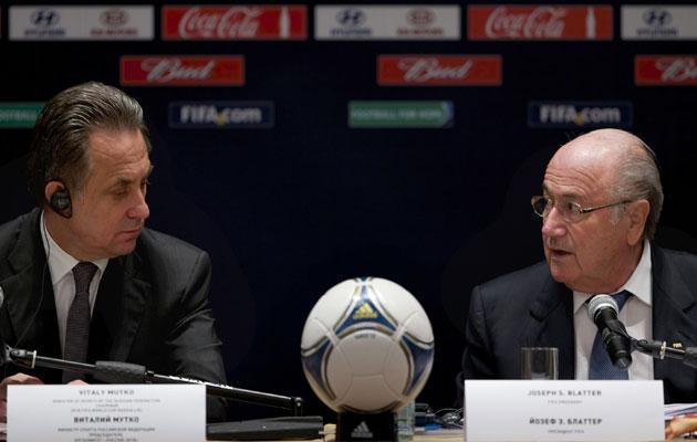 Vitaly Mutko Sepp Blatter