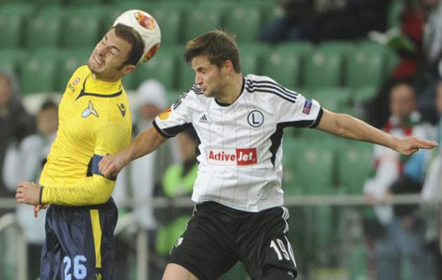 Bartosz Bereszynski in action for Legia Warsaw