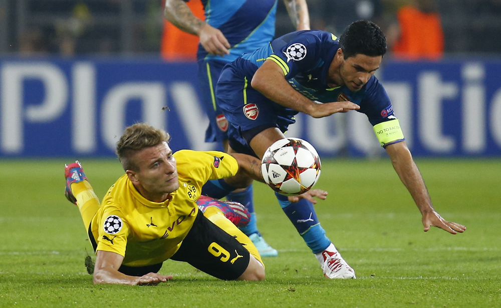Dortmund look set to cut their losses on Ciro Immobile (left).
