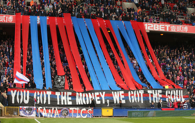 Soccer Goals For Sale >> Crystal Palace fans display their antipathy towards Sky Sports