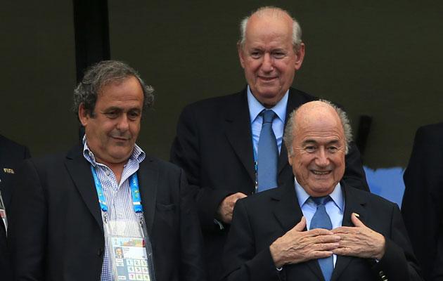 UEFA president Michel Platini and FIFA president Sepp Blatter