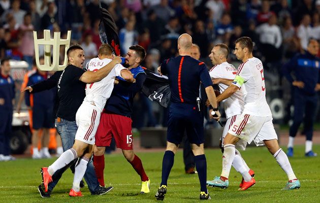 Brother of Albania PM reported to be controlling drone at Serbia match