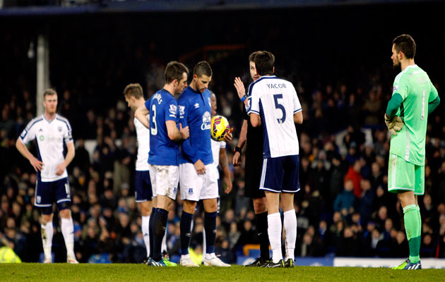 Leighton Baines and Kevin Mirallas
