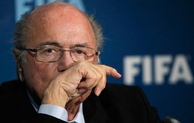 Sepp Blatter slips out the back door