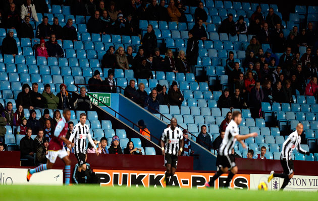 Villa Park empty seats