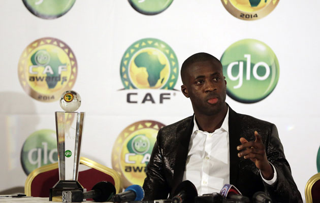 yaya toure caf footballer of the year 2015