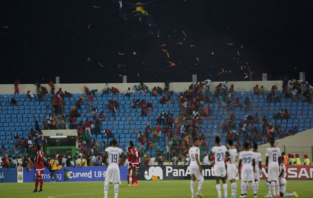 African Nations Cup riot Equatorial Guinea