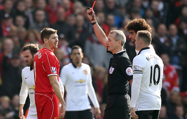 Steven Gerrard red card