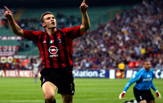 Andriy Shevchenko, a reminder of the times when Milan could sign the world's best players.