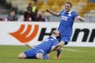 his goal with teammate Cheberyachko during their Europa League quarterfinal second leg soccer match against Club Brugge in Kiev