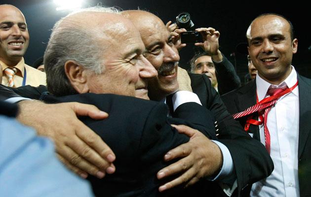 Jibril Rajoub Sepp Blatter