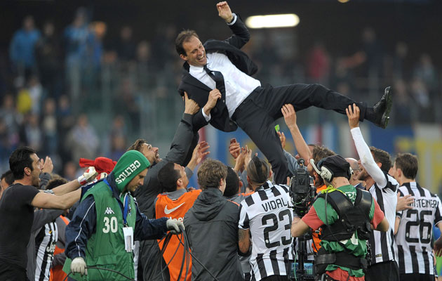 Juventus' coach Massimiliano Allegri