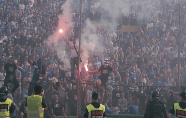Sarajevo derby FK Zeljeznicar and FK Sarajevo