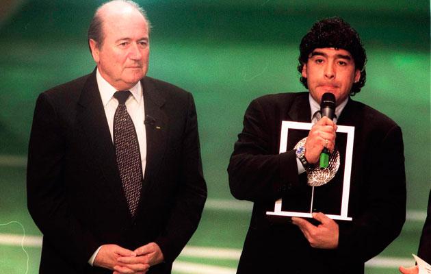 Sepp Blatter Diego Maradona