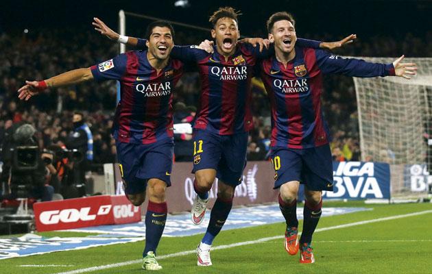 Barcelona MSN Suarez, Neymar, Messi