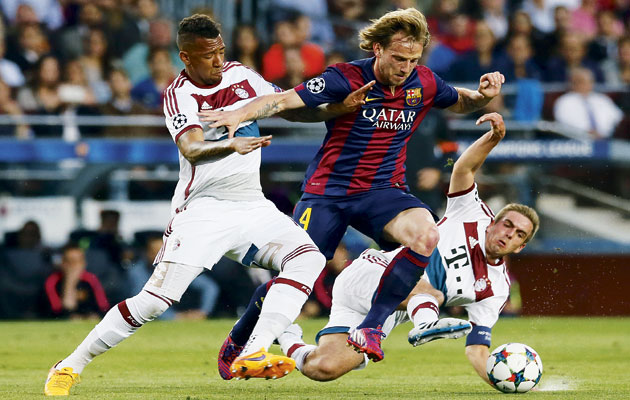 Rakitic's directness has been a feature of Barcelona's play this season.