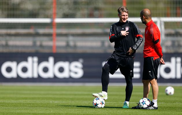 Bastian Schweinsteiger and Pep Guardiola