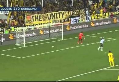 espen ruud scores odd goal against borussia dortmund world soccer. Black Bedroom Furniture Sets. Home Design Ideas
