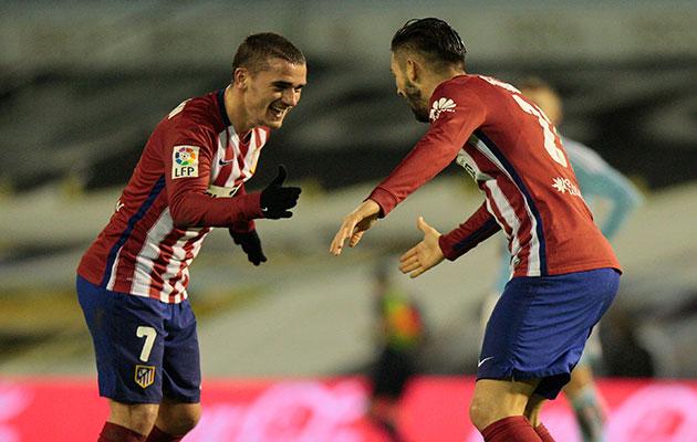 Yannick Carrasco Antoine Griezmann Atletico Madrid
