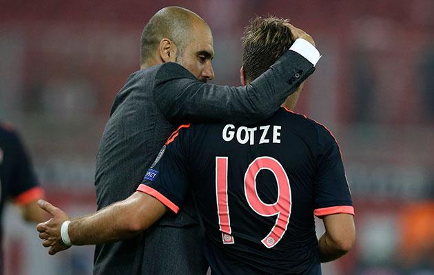 Pep Guardiola Mario Goetze