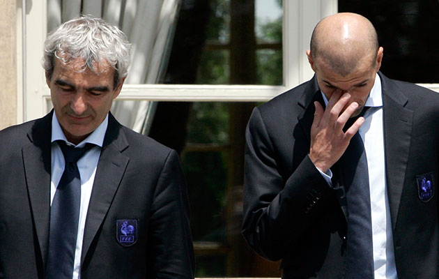 Raymond Domenech Zinedine Zidane