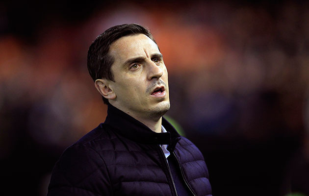 Revival curtailed....More despair for Gary Neville as his side went down 3-0 at home to Athletic Bilbao.