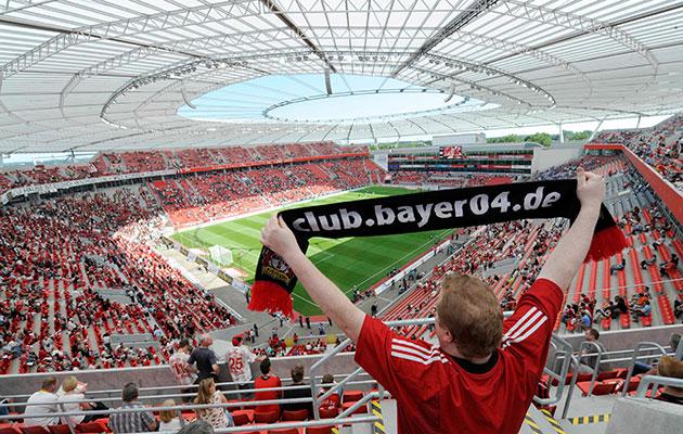 stadium guide bayarena bayer leverkusen. Black Bedroom Furniture Sets. Home Design Ideas