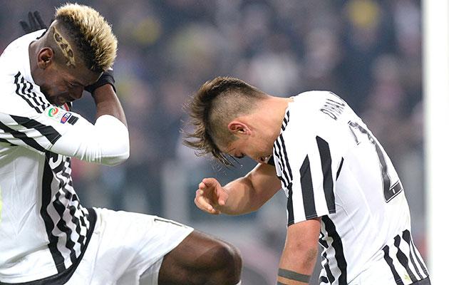 Paul Pogba and Paulo Dybala Juventus