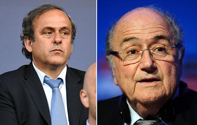 Michel Platini Sepp Blatter