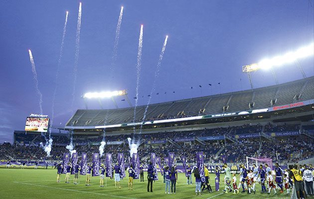 Fireworks…Orlando City put on a show for New York City's visit