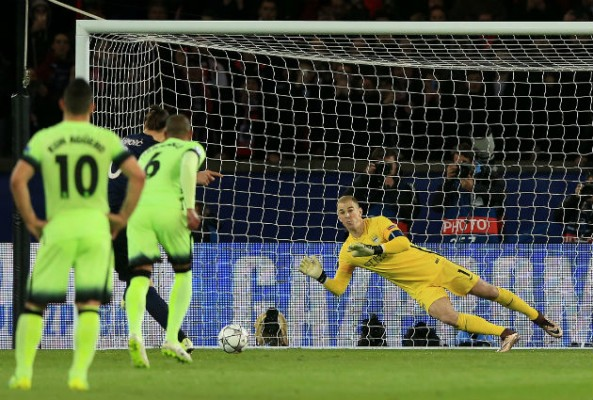 Joe Hart with his penalty save over Zlatan Ibrahimovic