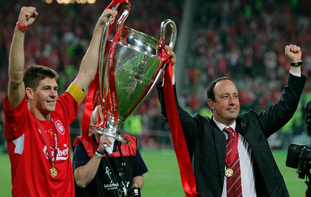 Gerrard Benitez Liverpool Istanbul