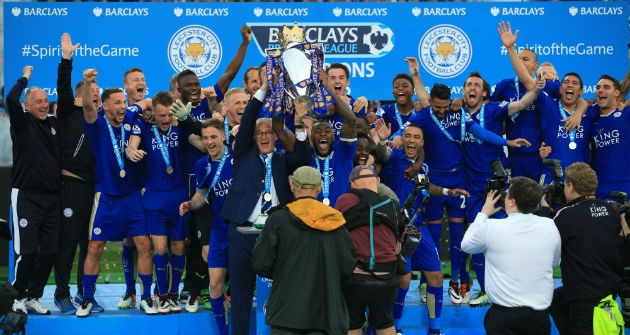 Leicester players celebrations
