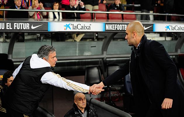 Mourinho Guardiola Manchester derby