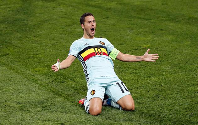 Eden Hazard hungary 0 Belgium 4